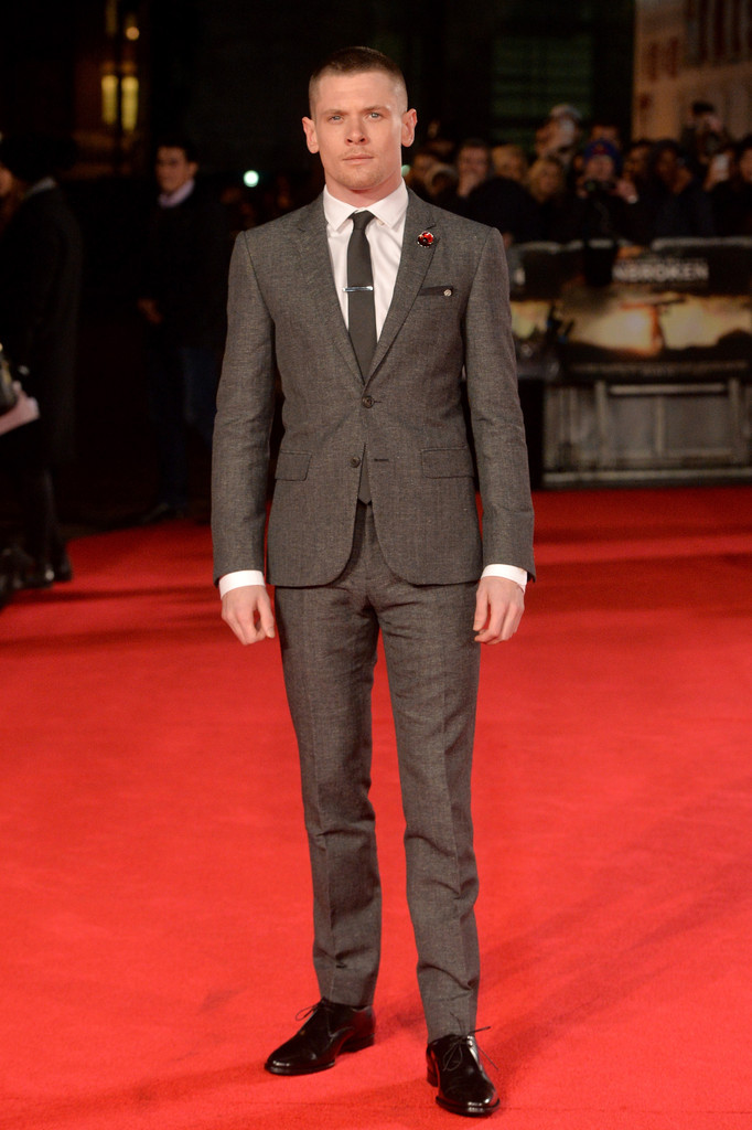 Jack O'Connell Wears Burberry to London 'Unbroken' Premiere