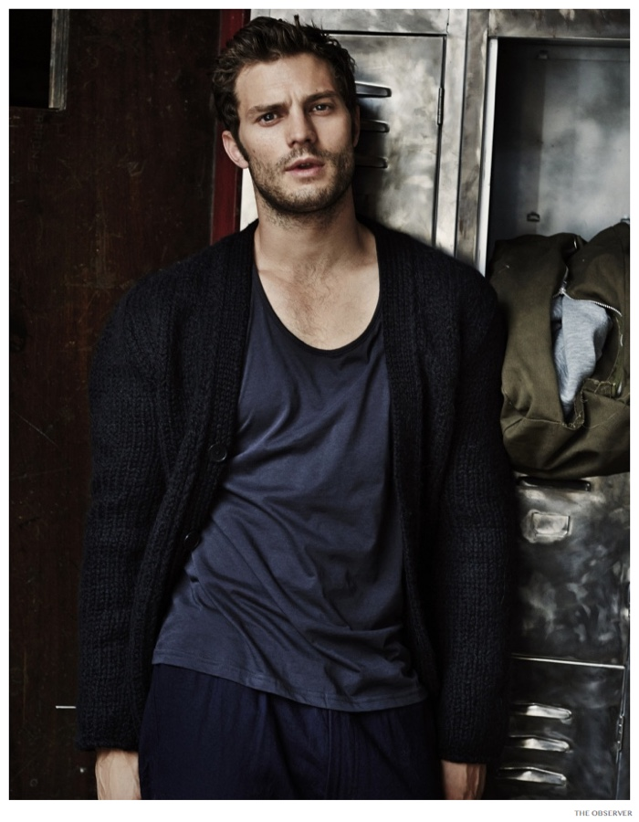 Jamie Dornan Works Out for New Observer Photo Shoot
