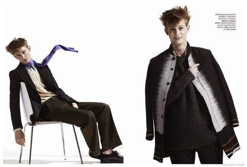 Malcolm De Ruiter is a 'Little Prince' for Harper's Bazaar Thailand