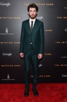 Dressed to impress, British actor Matthew Beard hit the red carpet on November 17th for the New York City premiere of 'The Imitation Game'. Keeping it classic, but modern in sharp, slim lines, Beard wore a suit from Burberry Tailoring.