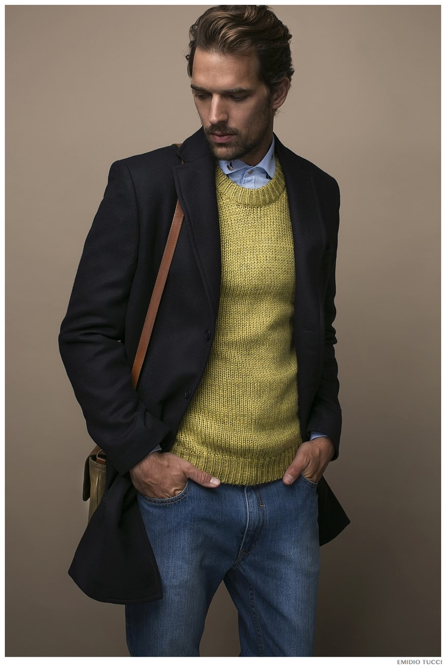 Michael Gstoettner Channels Gentleman Style for Emidio Tucci Fall/Winter 2014