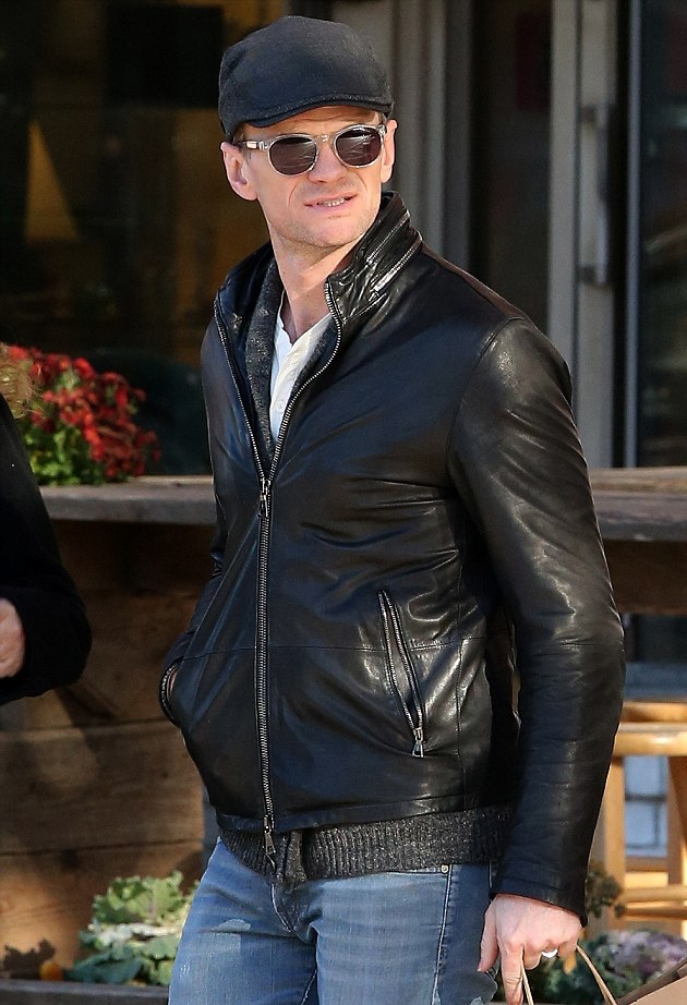 "Spotted out and about running errands with his family in Manhattan this past weekend, actor Neil Patrick Harris was a shining example of great street style. Wearing a leather jacket, driver cap and jeans, Harris completed his casual look with <a href=""http://www.johnvarvatos.com"">John Varvatos crystal V774 sunglasses</a>."