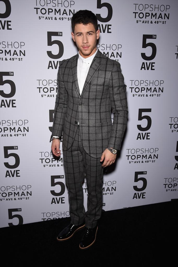 Nick Jonas & Max Irons Celebrate Topman 5th Avenue Opening