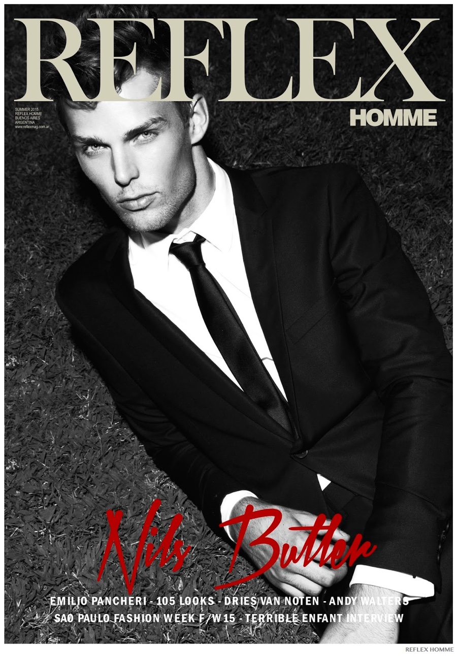 Nils Butler Goes for a Night Swim for Reflex Homme Cover Photo Shoot