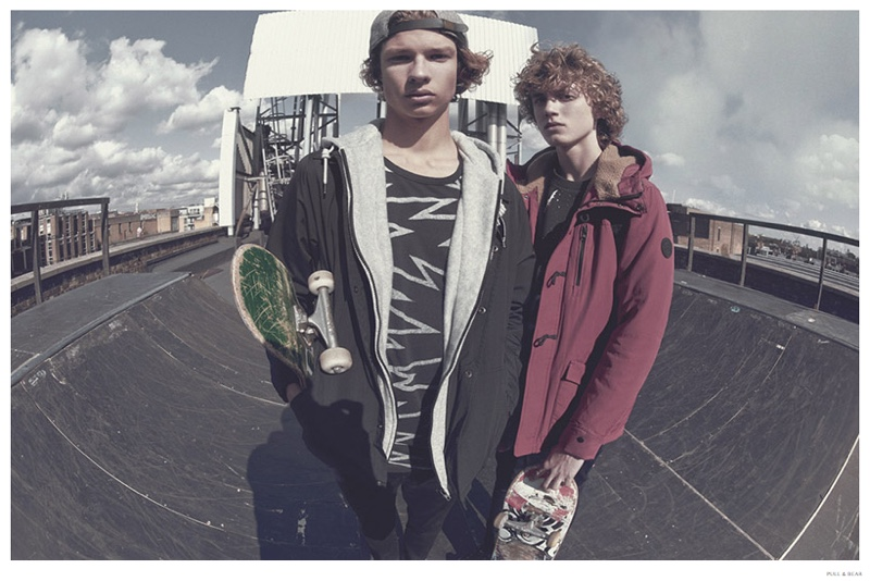Pull & Bear Champions the Skater Muse for Winter 2014 Advertising Campaign