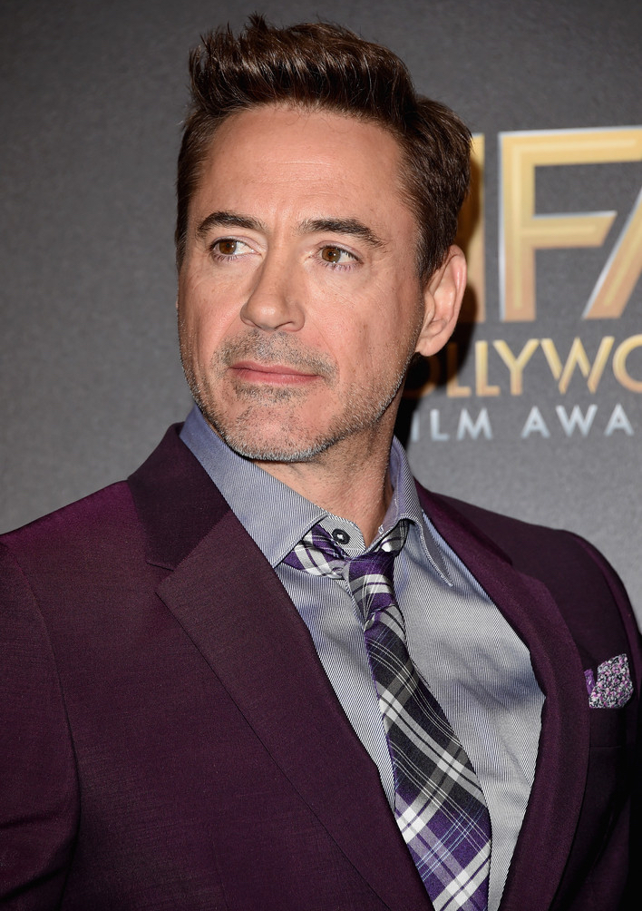 Robert Downey Jr. Makes Purple Style Statement in Etro