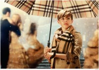 Romeo Beckham captured in a still from Burberry's holiday 2014 film campaign 'From Love with London'