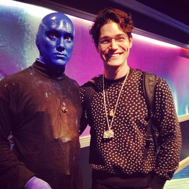 Sam Way has a Blue Man Group moment.