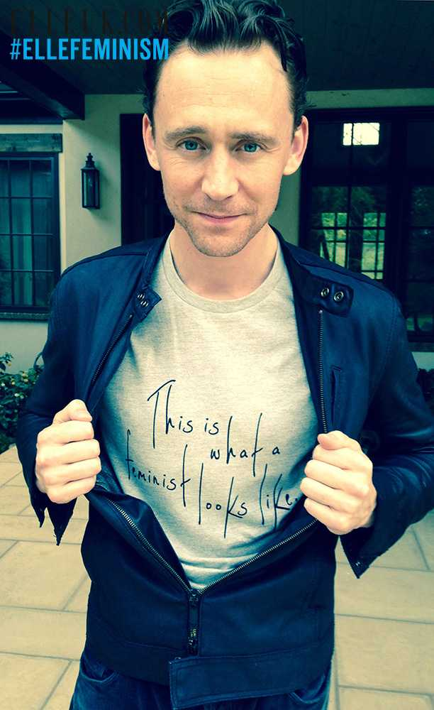 Feminist Trending: Tom Hiddleston + More Pose for #ElleFeminism, Feminist T-Shirts Made in Sweatshops