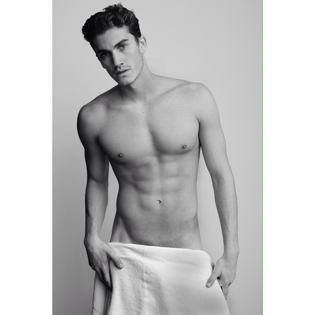 Tomas Guarracino Strips Down for Mario Testino's Towel Series