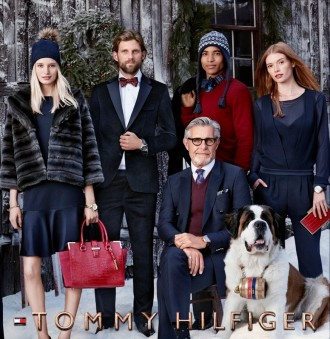Photographed by Craig McDean, models RJ Rogenski and Bernard Fouquet help Tommy Hilfiger ring in the holidays with its new advertising campaign, which depicts The Hilfigers dressed in their best festive attire.