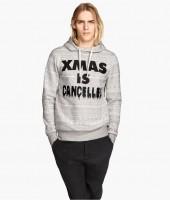 Ton Heukels wears H&M 'XMAS IS CANCELLED' Sweatshirt