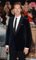 Benedict Cumberbatch hits the red carpet in a velvet jacket for the December 1st world premiere of 'The Hobbit: The Battle of the Five Armies'.