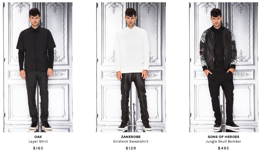 The Hit List: Revolve Hones in on Black & White Men's Fashions