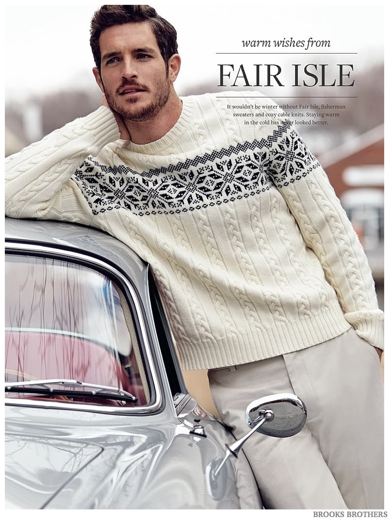 Brooks Brothers Features Men's Fair Isle Sweaters