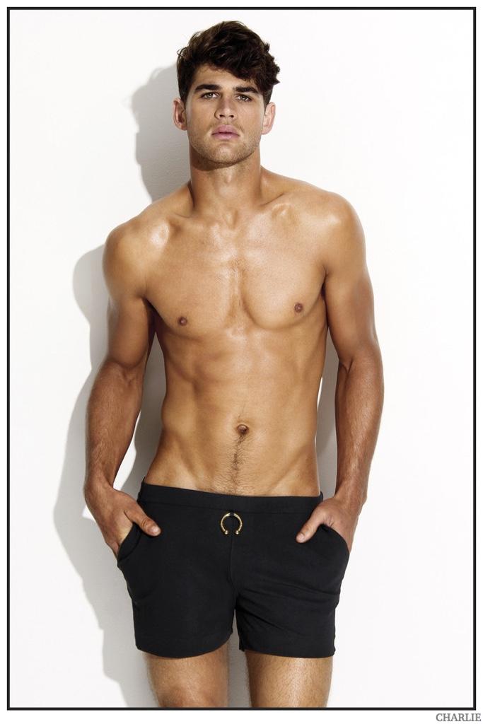 Ryan Bertroche Models Underwear + Swimwear from Charlie's Noir Collection