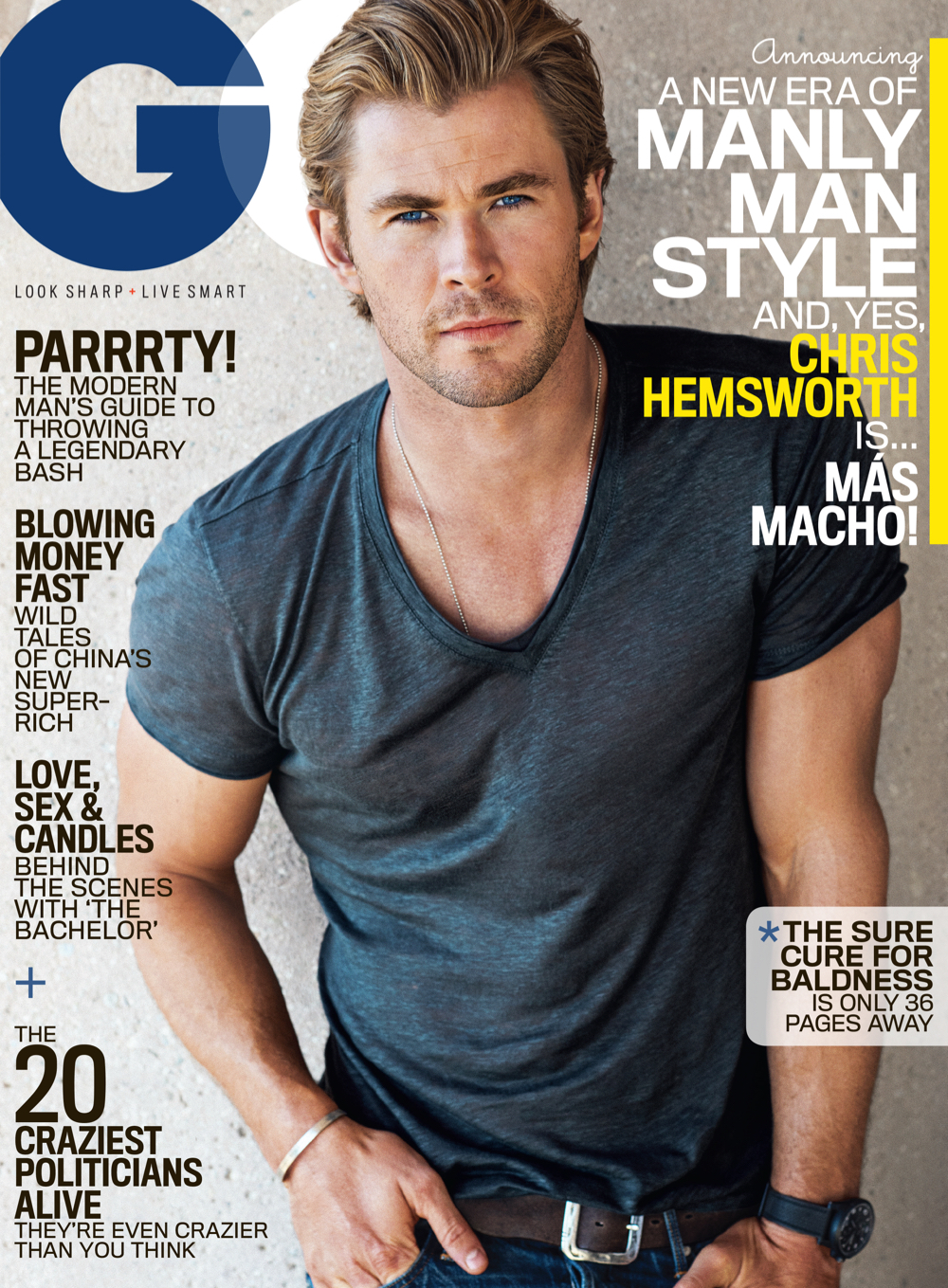 Chris Hemsworth Covers GQ January 2015 Issue, Sports 'Manly' Clothes for Shoot