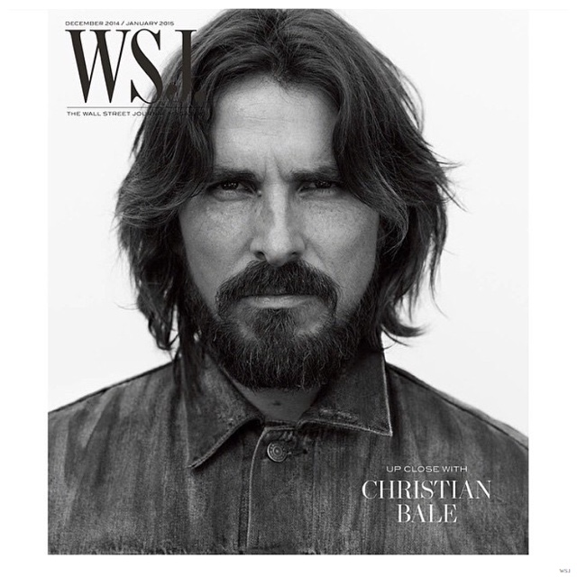 Christian Bale is Rugged for WSJ December 2014/January 2015 Cover Photo Shoot