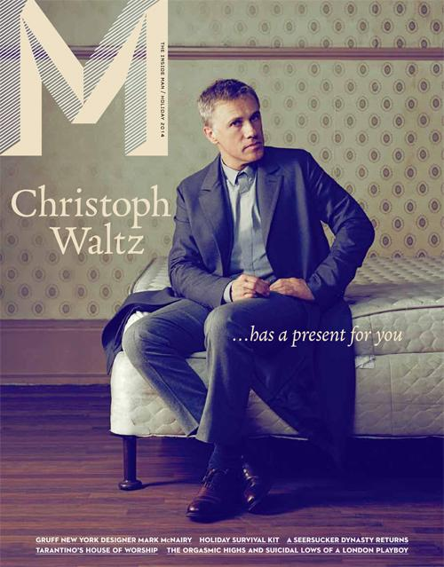 Christoph Waltz Covers M Magazine Holiday 2014 Issue
