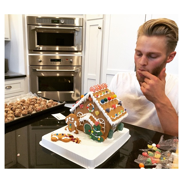 Clark Bockelman is entertained by thoughts of gingerbread cookies