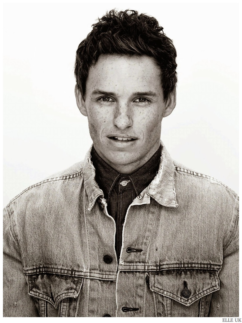 Eddie Redmayne Is Clad In Denim For Elle Uk January 2015