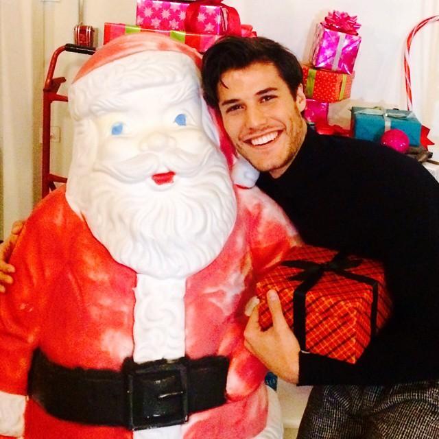 Emilio Flores poses with Santa