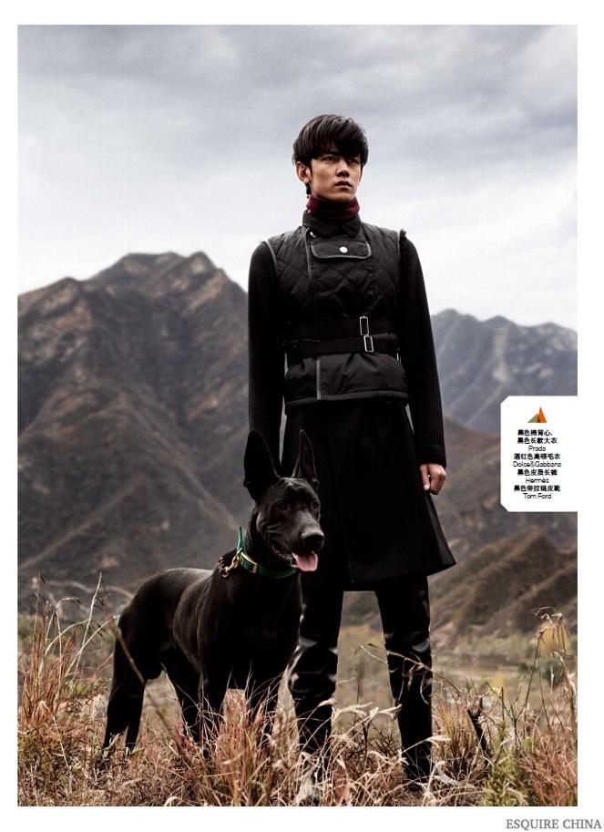 Ji Lingchen & Li Jin Bundle Up for Winter in Esquire China