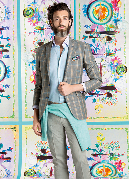 Etro Inspired by British Style & Nature for Men's Spring 2015 Fashions