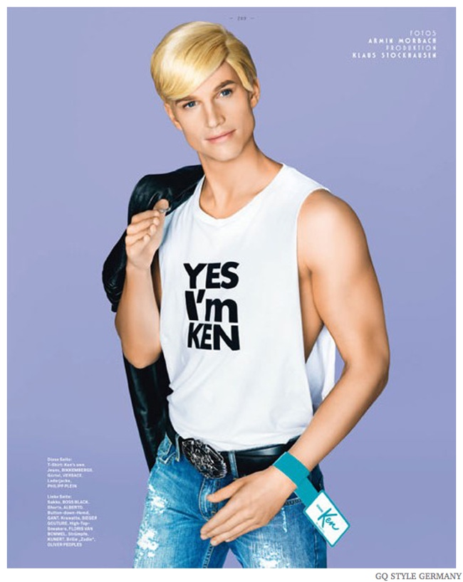 TBT: Aaron Bruckner is Ken Doll for GQ Style Germany