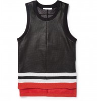 Givenchy perforated leather basketball tank