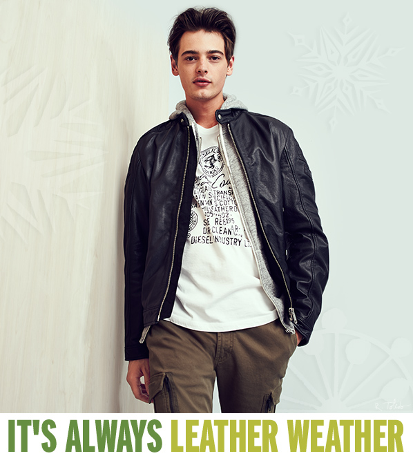 1950s mens leather jacket