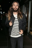 Actor Jared Leto leaving the opening of Rimowa in late October.