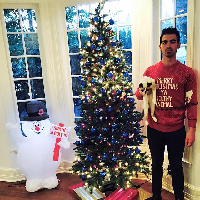 Joe Jonas Wears Merry Christmas Ya Filthy Animal Home Alone Red