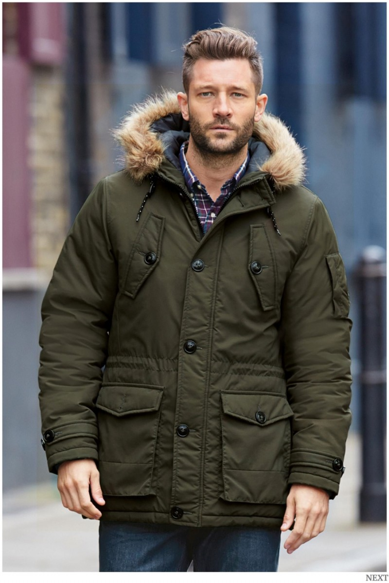 Back to Basics: John Halls Models Next Outerwear   Pullovers