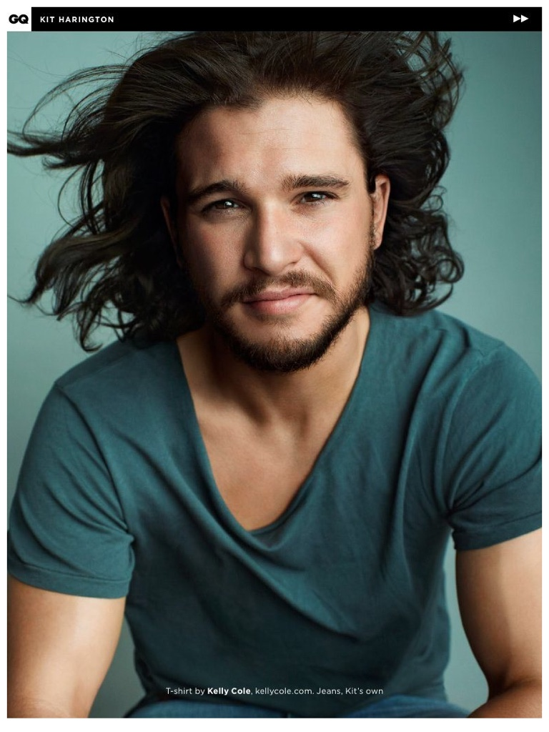 Kit Harington Sports Contemporary Styles For British Gq
