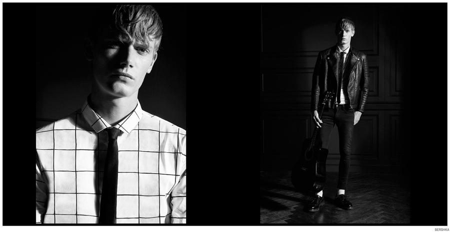 Bershka Showcases Graphic Black & White Men's Styles