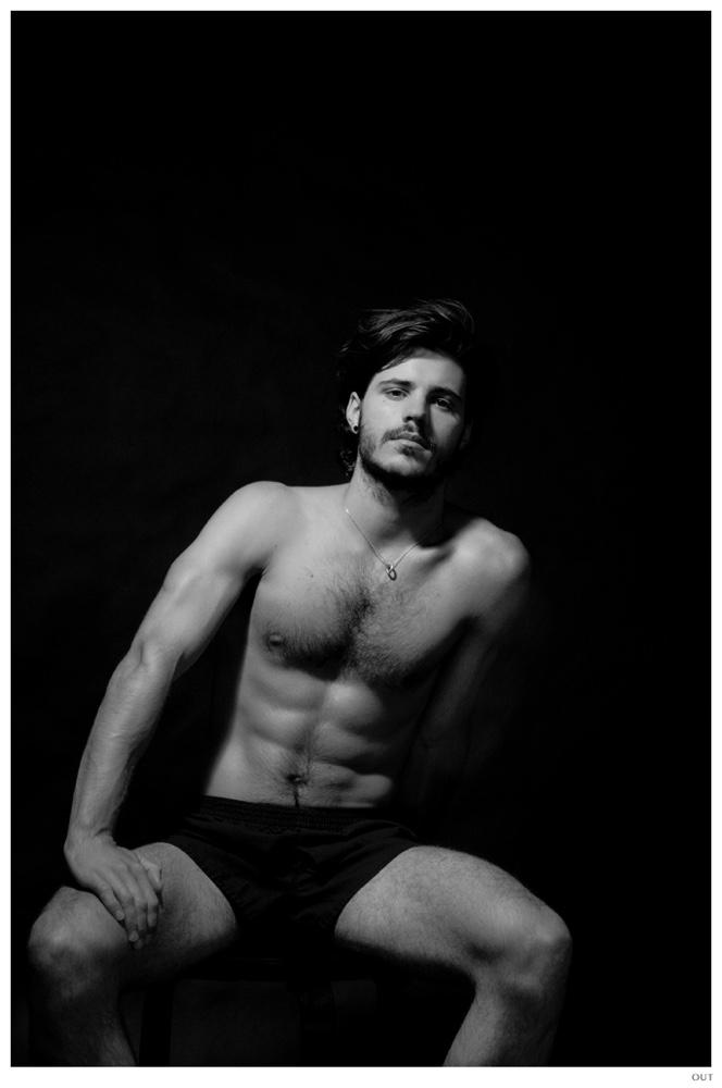 Matthieu Charneau Shirtless Underwear
