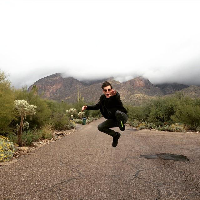 Max Von Isser shares a fun image from Arizona