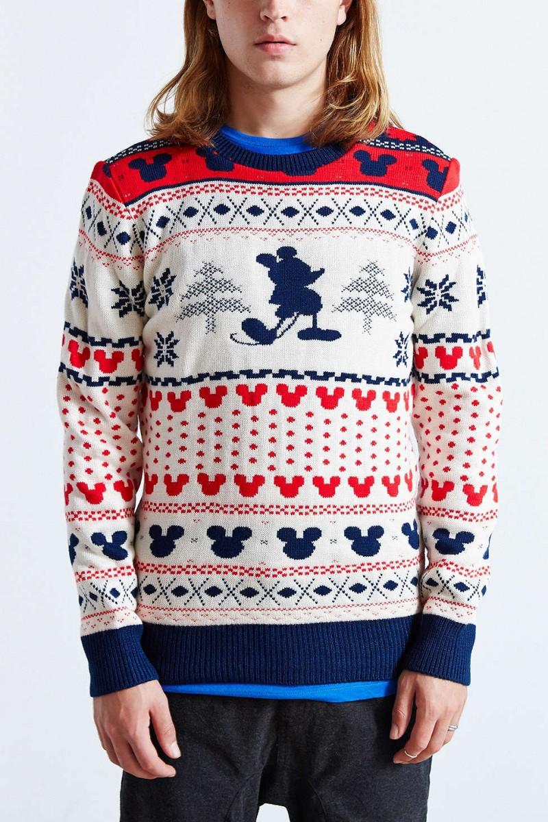 Mickey Mouse Fair Isle Crewneck Sweater