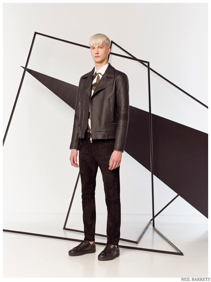 Neil Barrett is Graphic & Sporty for Pre-Spring 2015 Men's Collection
