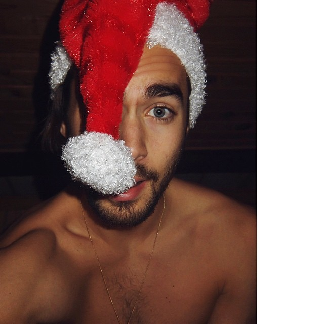 Nicolas Simoes poses for an infectious X-mas picture