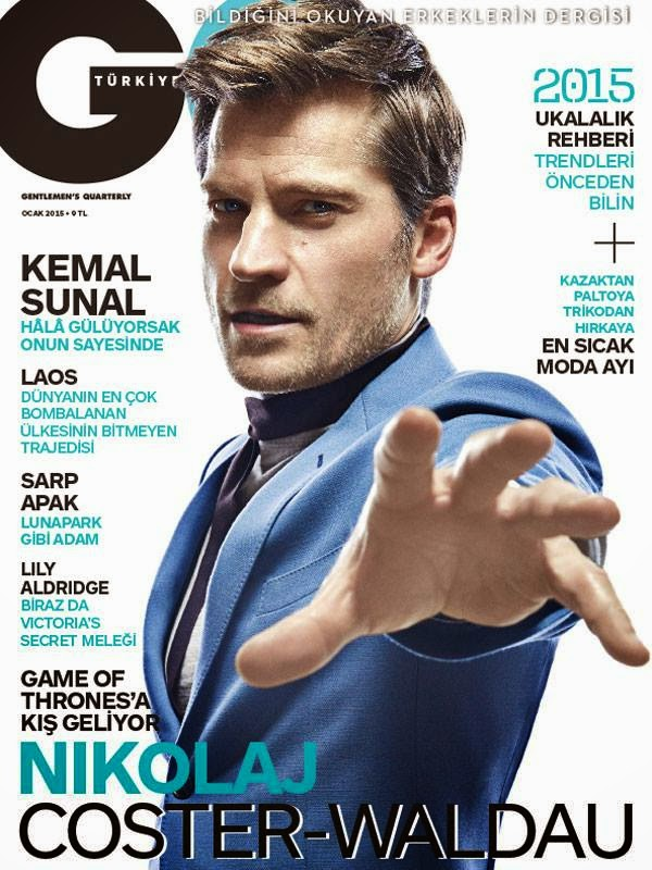 Nikolaj Coster-Waldau Covers GQ Turkey January 2015 Issue