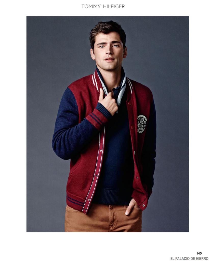Sean O'Pry Sports Casual Fashions for El Palacio de Hierro Holiday 2014 Catalogue