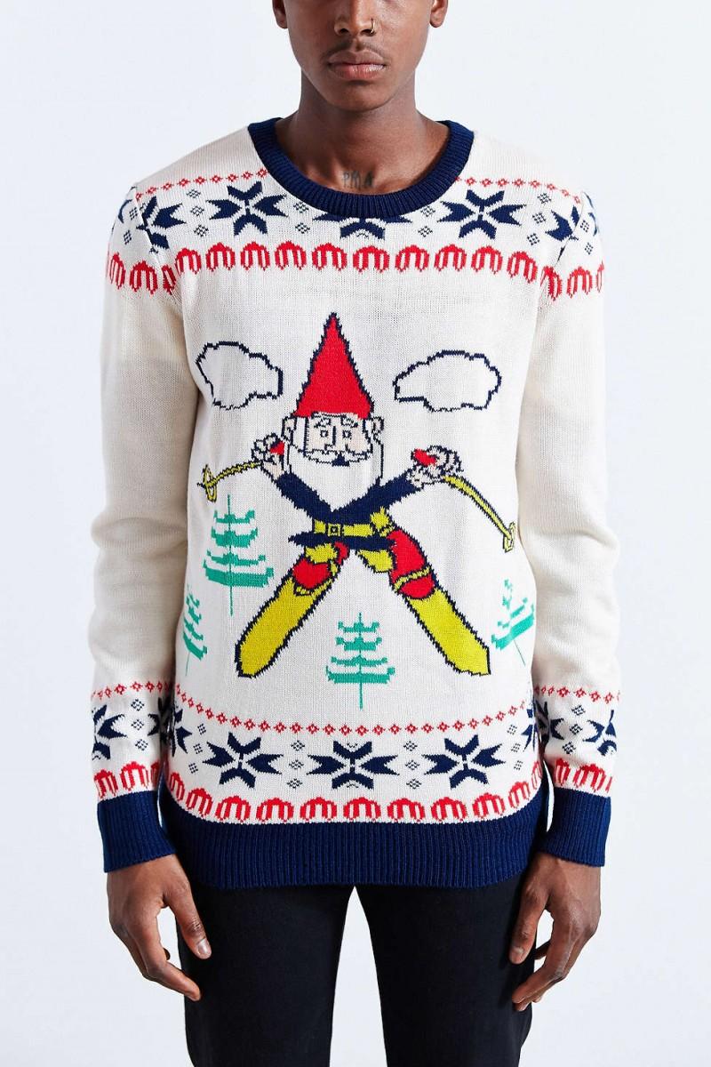 Skiing Gnome Crewneck Sweater