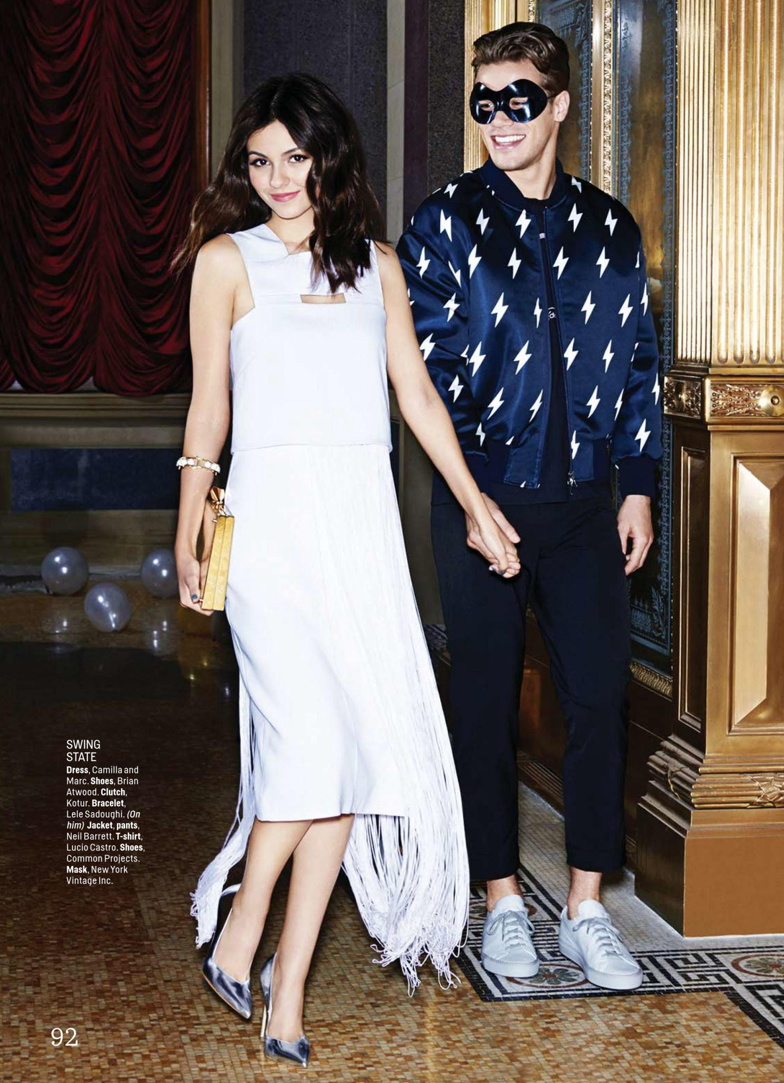 Tucker Des Lauriers Joins Victoria Justice For Cosmopolitan January 2015 Photo Shoot