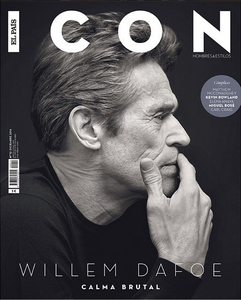 Willem Dafoe & Marc Marquez Cover Icon December 2014 Issue