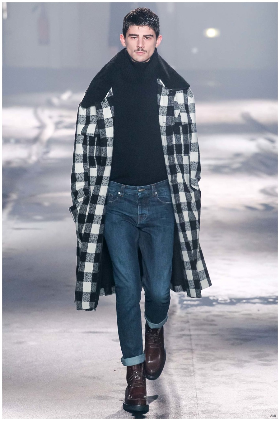 AMI Fall/Winter 2015 Menswear Collection: The Polished Denim Statement