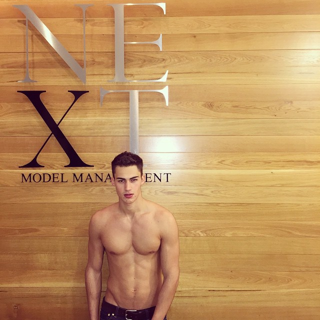 Alessio Pozzi stops by his London agency Next