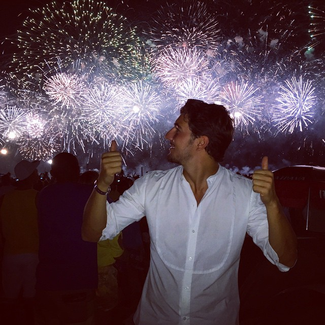 Andrea Preti catches the fireworks