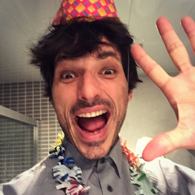 The always energetic Andres Velencoso Segura is the life of the party